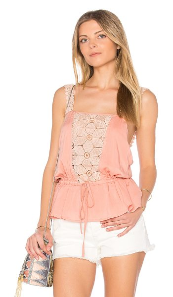 Somedays Lovin Sun Beams and Daydreams Top in pink - 100% viscose. Hand wash cold. Elasticized drawstring...