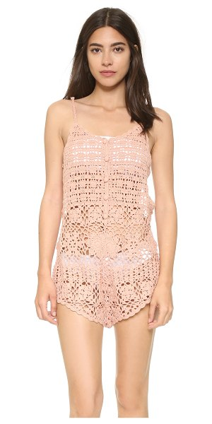 Somedays Lovin sweet caroline romper in dirty pink - Adjustable straps cut over the open back of this...