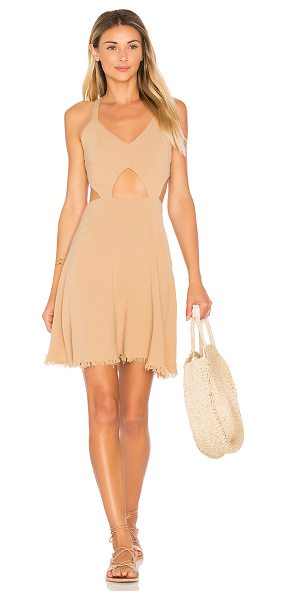 Somedays Lovin Take Me Here Dress in beige - 40% viscose 30% cotton 30% linen. Unlined. Adjustable...