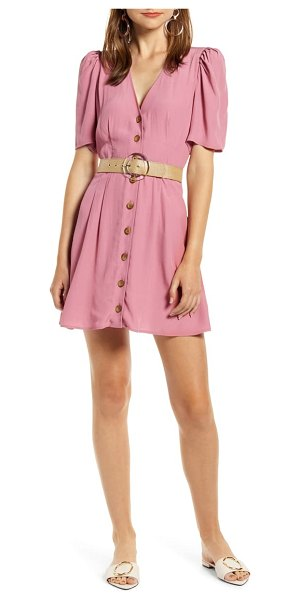 Something Navy button minidress in pink (nordstrom exclusive)