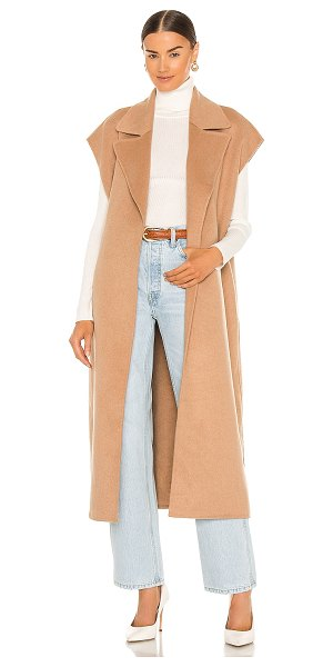 Song of Style adah sleeveless coat in camel brown