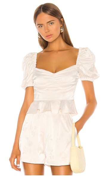 Song of Style binx top in pearl white