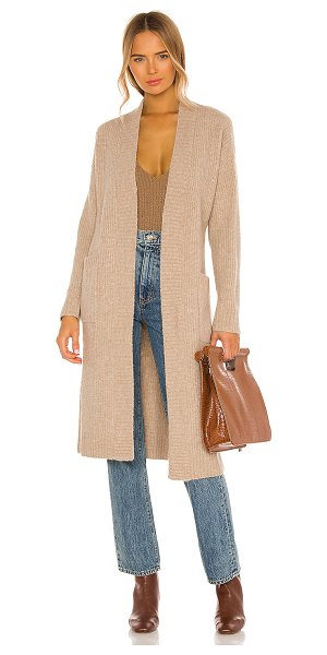 Song of Style camogli belted cardigan in taupe