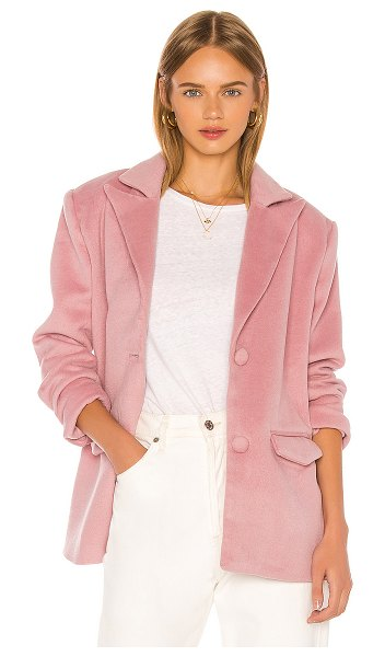 Song of Style dahlia blazer in dusty pink