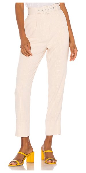 Song of Style lane pant in beige check