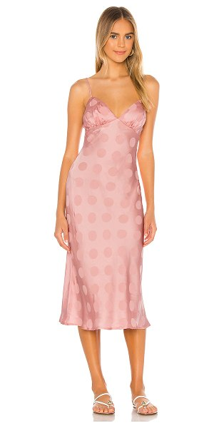 Song of Style marigold midi dress in ballet pink