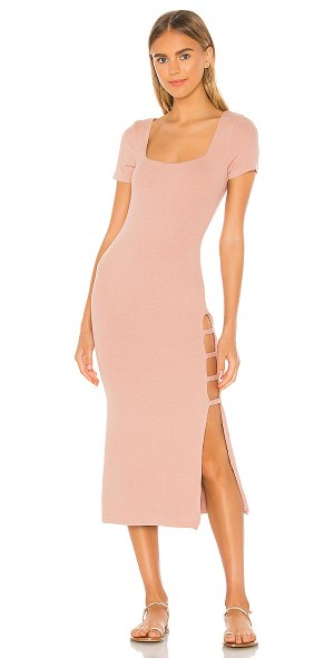 Song of Style rigby midi dress in nude