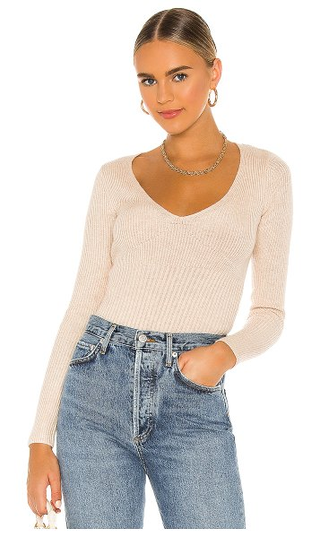 Song of Style umami sweater in taupe