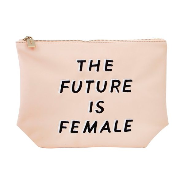 Sonix the future is female faux leather everyday pouch in peach - Take on the day (and the patriarchy) with this statement...