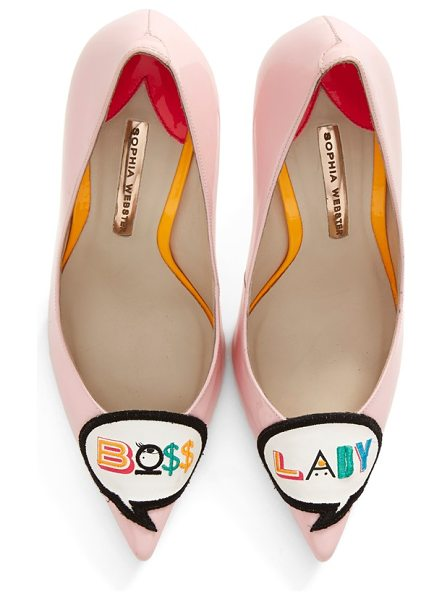 Sophia Webster boss lady pointy toe pump in pink patent eather - Sophia Webster knows that it's all about attitude. So...
