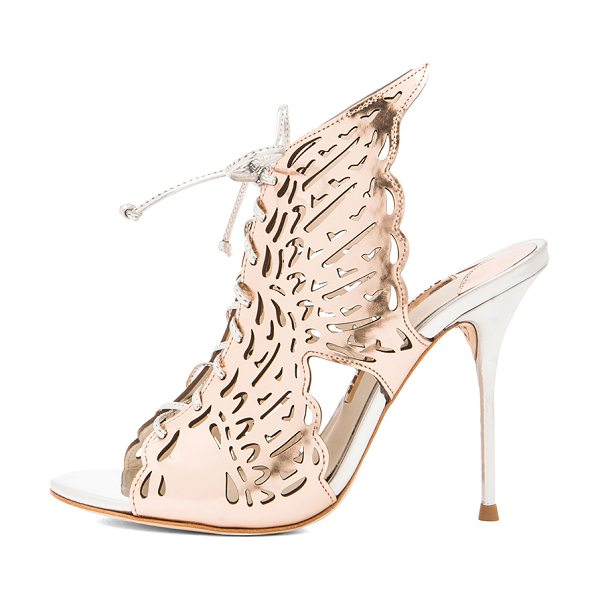 Sophia Webster Cherub leather heels in metallics