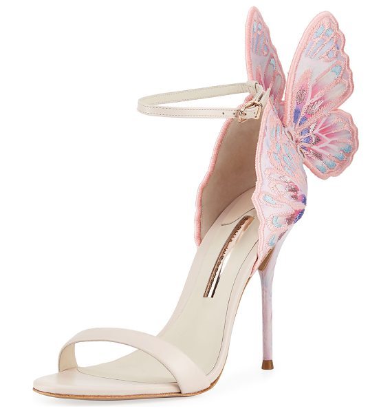 Sophia Webster Chiara Embroidered Butterfly Sandals in nude pink - EXCLUSIVELY AT NEIMAN MARCUS Sophia Webster embroidered...