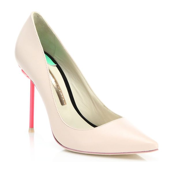 Sophia Webster coco flamingo leather pumps in nude-pink - Signature flamingo pin heel elevates leather pumps....