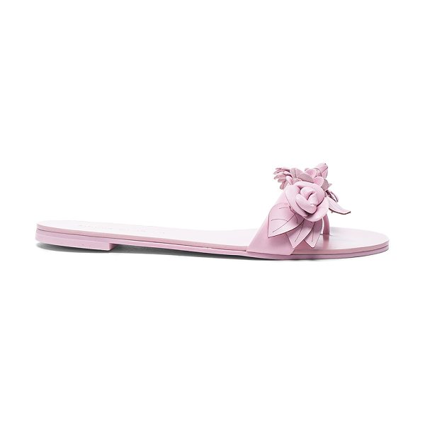 Sophia Webster Leather Lilico Sandals in pink - Leather upper with rubber sole.  Made in Brazil.  Approx...