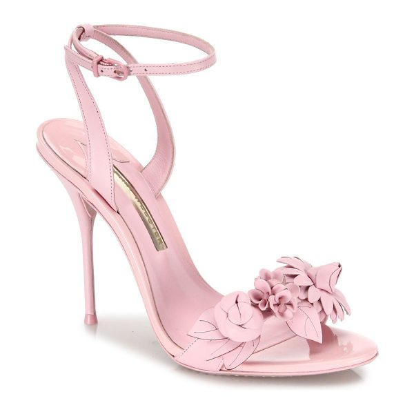 SOPHIA WEBSTER lilico leather ankle-strap sandals - Leather ankle-strap sandal with floral-embellished band....
