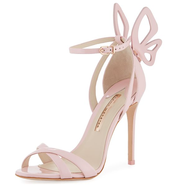 Sophia Webster Madame Chiara Butterfly Sandal in baby pink - Sophia Webster high sandal in smooth and patent leather....