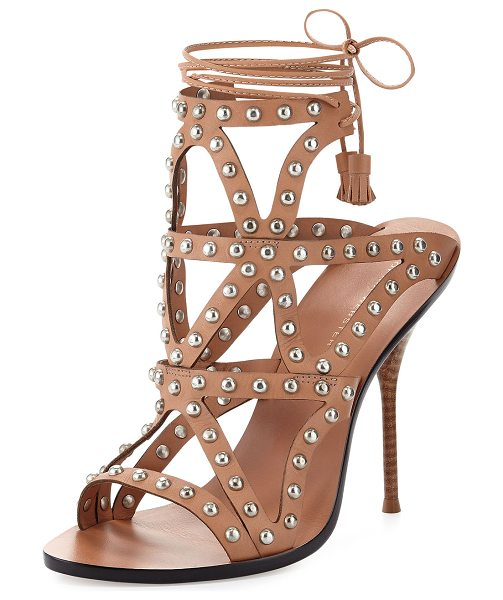 SOPHIA WEBSTER Mila studded laser-cut sandal - Sophia Webster leather sandal with silvertone studded...