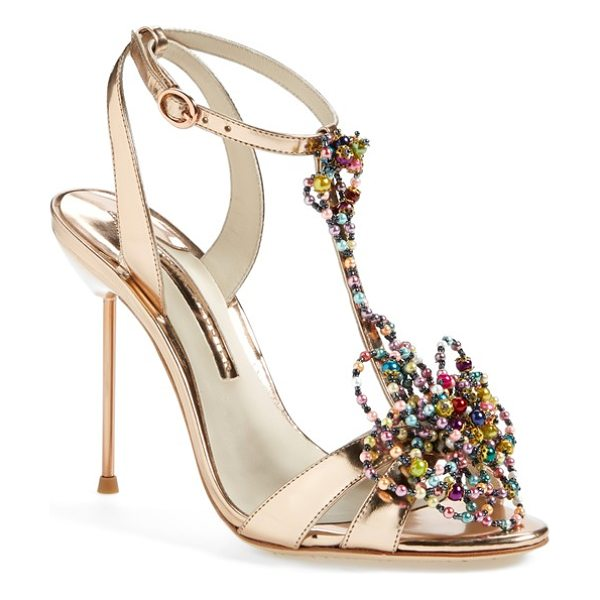 Sophia Webster monique beaded t-strap sandal in bead rose - Tapping into the season's art focus, Sophia Webster gets...