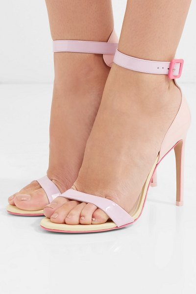 Sophia Webster nicole color-block patent-leather sandals in pink