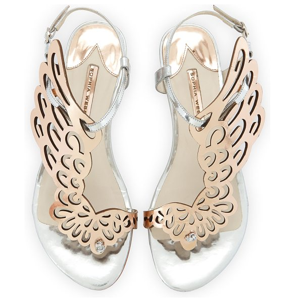 Sophia Webster Seraphina angel-wing sandal in silver