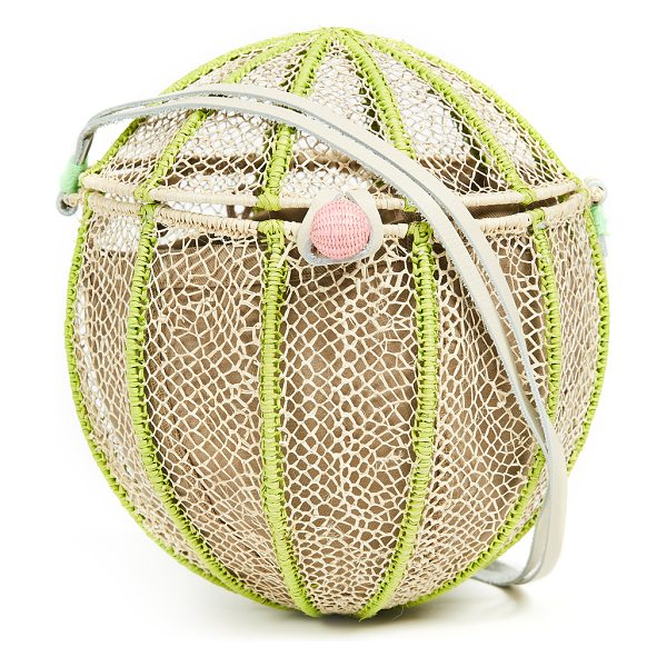SOPHIE ANDERSON meylin sphere cross body bag - Fabric: Woven straw Ring-and-toggle at front Lined Dust...
