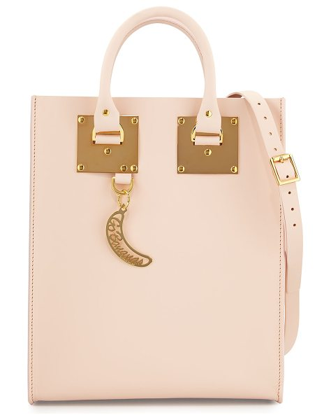 Sophie Hulme Albion Mini Go Bananas Tote Bag in blossom pink - Sophie Hulme structured leather tote bag. Gold-plated...