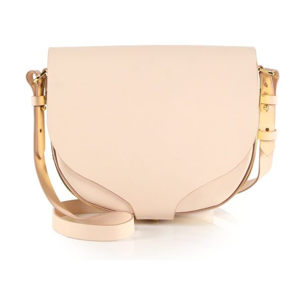 Sophie Hulme Barnsbury medium leather saddle bag in blossompink