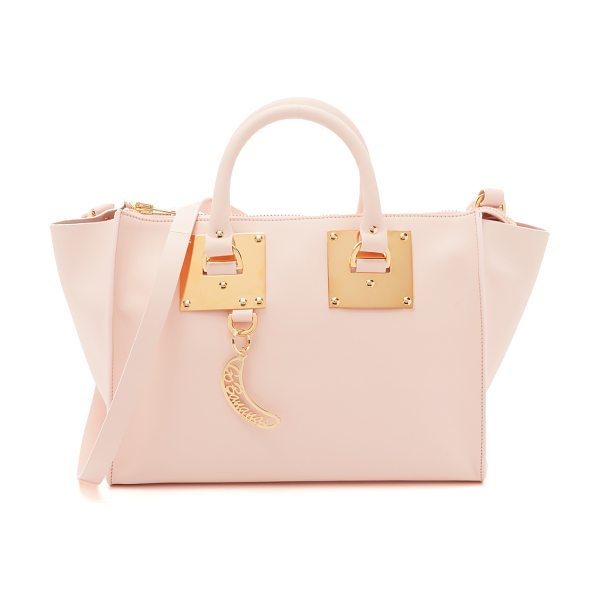 SOPHIE HULME Bowling bag in blossom pink - A mid sized Sophie Hulme bag rendered in pebbled...
