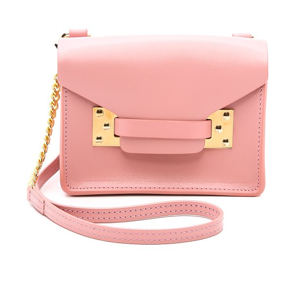 Sophie Hulme Nano envelope bag in pink - A scaled down Sophie Hulme bag in smooth leather. A...