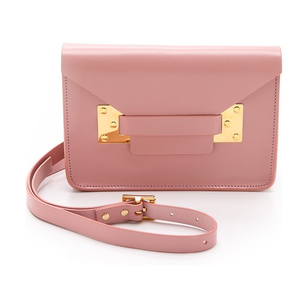 SOPHIE HULME Mini envelope bag - Rigid leather composes a scaled down Sophie Hulme...