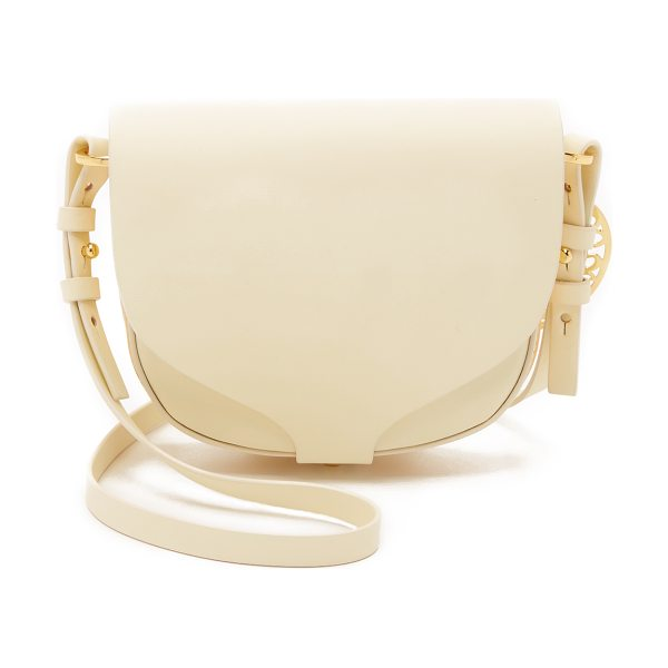 SOPHIE HULME Mini saddle cross body bag - A scaled down Sophie Hulme saddle bag crafted in smooth...