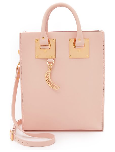 Sophie Hulme Mini tote bag in blossom pink - Polished gold tone hardware adds luxe polish to a petite...