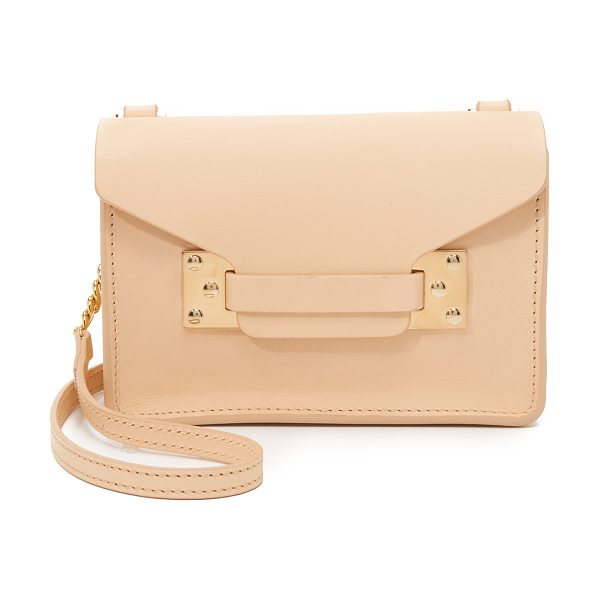 Sophie Hulme Nano envelope bag in nude - A scaled down Sophie Hulme bag in smooth leather. A...
