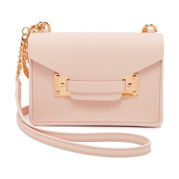 Sophie Hulme Nano envelope bag in blossom pink