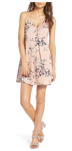 Soprano floral print slipdress in blush - Watercolored flowers blossom atop this lustrous little...