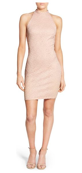 SOPRANO lace body-con dress - A face-framing mock neckline and a slinky,...