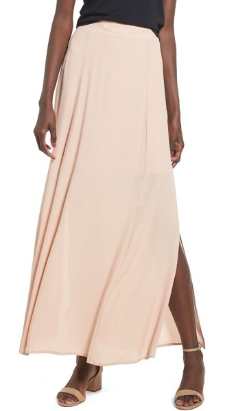 Soprano maxi skirt in pink hero - Side slits add breezy movement to this gauzy maxi skirt...