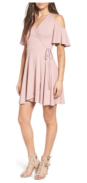Soprano rib knit wrap dress in dusty pink - Perfect for the off-duty ballerina (and everyone who...