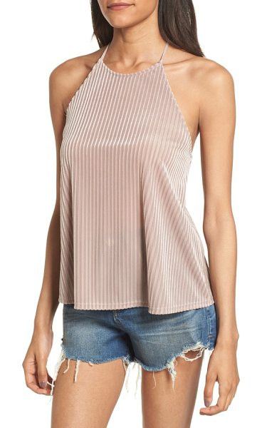 Soprano ribbed velvet tank in mauve - The perfect way to wear velvet when the weather is warm,...