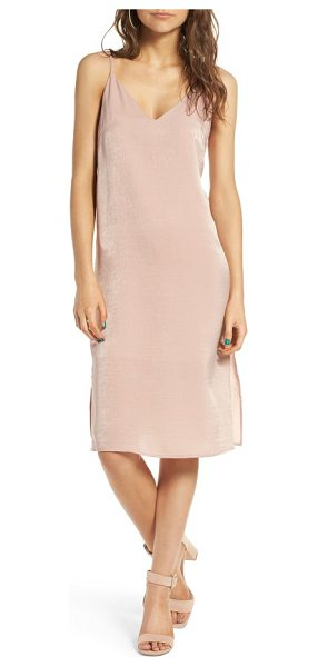 Soprano satin slipdress in near nude - Slinky satin adds subtle luster to a trend-right...