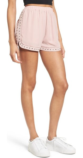 Soprano studded & embroidered shorts in blush - For the sporty girl who still likes a bit of glitz,...
