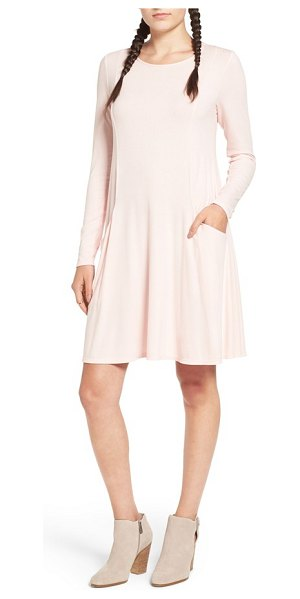 Soprano swing dress in blush - Gently curved princess seams create a swingy silhouette...