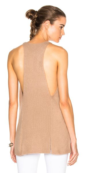 SOYER Halter Tank Top in neutrals - 100% cashmere.  Made in China.  Dry clean only.  Knit...