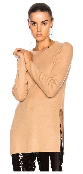 SOYER Luca Sweater in neutrals - 100% cashmere.  Made in China.  Dry clean only.  Knit...