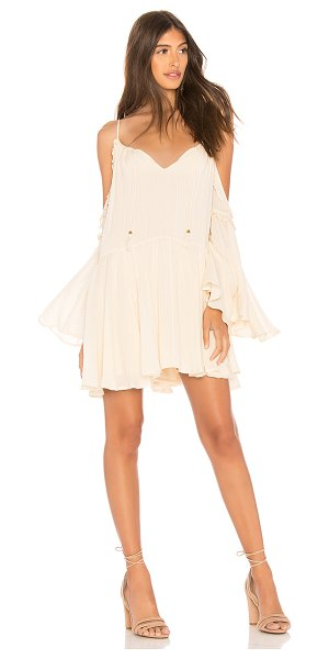 Spell & The Gypsy Collective Florence Mini Dress in cream - 98% rayon 2% lurex. Hand wash cold. Fully lined....