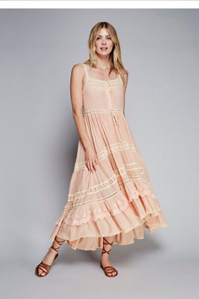 Spell & The Gypsy Collective Rapunzel gown in blush - Once upon a time there was an ultra femme maxi dress...