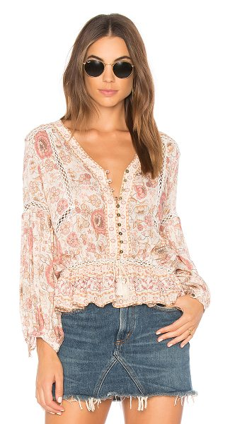 Spell & The Gypsy Collective Zahara Blouse in pink - 98% rayon 2% metallic. Hand wash cold. Partial front...