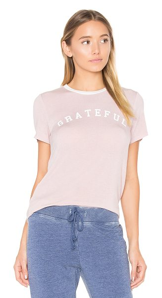 Spiritual Gangster Grateful Arch Tee in blush - 95% rayon 5% spandex. Hand wash cold. Screen print...