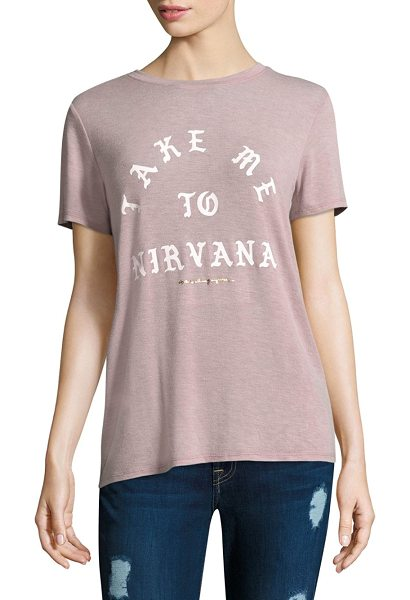 Spiritual Gangster nirvana print tee in dusty pink - Knit tee with front graphic. Crewneck. Short sleeves....
