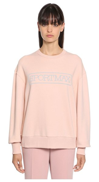 Sportmax Megaton stretch cotton sweatshirt in nude